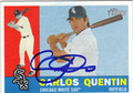 CARLOS QUENTIN AUTOGRAPHED BASEBALL CARD #41512R