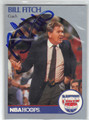 BILL FITCH NEW JERSEY NETS AUTOGRAPHED BASKETBALL CARD #41513J