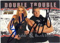 SABLE & BROCK LESNAR DOUBLE AUTOGRAPHED WRESTLING CARD #41513O