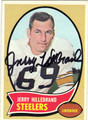 JERRY HILLEBRAND PITTSBURGH STEELERS AUTOGRAPHED VINTAGE FOOTBALL CARD #40913A
