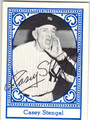 CASEY STENGEL NEW YORK YANKEES AUTOGRAPHED VINTAGE BASEBALL CARD #41613A