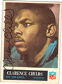 CLARENCE CHILDS NEW YORK GIANTS AUTOGRAPHED VINTAGE ROOKIE FOOTBALL CARD #41613B
