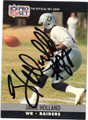 JAMIE HOLLAND LOS ANGELES RAIDERS AUTOGRAPHED FOOTBALL CARD #41613C