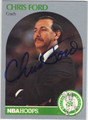 CHRIS FORD BOSTON CELTICS AUTOGRAPHED BASKETBALL CARD #41613H