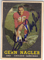 GERN NAGLER CHICAGO CARDINALS AUTOGRAPHED VINTAGE FOOTBALL CARD #41613J