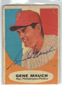 GENE MAUCH PHILADELPHIA PHILLIES AUTOGRAPHED VINTAGE BASEBALL CARD #41613L