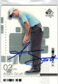 ADAM SCOTT AUTOGRAPHED GOLF CARD #41613M