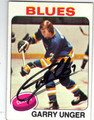 GARY UNGER ST LOUIS BLUES AUTOGRAPHED VINTAGE HOCKEY CARD #41613O