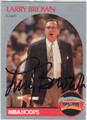 LARRY BROWN SAN ANTONIO SPURS AUTOGRAPHED BASKETBALL CARD #41713i
