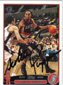 SCOTTIE PIPPEN AUTOGRAPHED BASKETBALL CARD #41811D