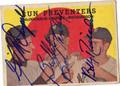 GIL McDOUGALD, BOB TURLEY & BOBBY RICHARDSON TRIPLE AUTOGRAPHED VINTAGE BASEBALL CARD #41911A