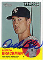 ANDREW BRACKMAN AUTOGRAPHED ROOKIE BASEBALL CARD #41712G