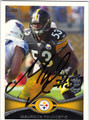 MAURKICE POUNCEY PITTSBURGH STEELERS AUTOGRAPHED FOOTBALL CARD #41713H