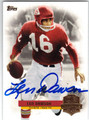 LEN DAWSON KANSAS CITY CHIEFS AUTOGRAPHED FOOTBALL CARD #41913H