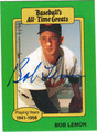 BOB LEMON AUTOGRAPHED BASEBALL CARD #42012E