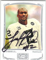 JaMARCUS RUSSELL OAKLAND RAIDERS AUTOGRAPHED FOOTBALL CARD #42013G