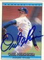 OREL HERSHISER LOS ANGELES DODGERS AUTOGRAPHED BASEBALL CARD #42213A
