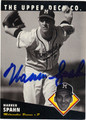 WARREN SPAHN MILWAUKEE BRAVES AUTOGRAPHED BASEBALL CARD #41912G