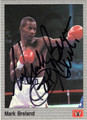 MARK BRELAND AUTOGRAPHED BOXING CARD #42213i