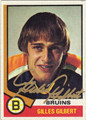GILLES GILBERT AUTOGRAPHED VINTAGE HOCKEY CARD #42312H