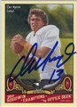 DAN MARINO AUTOGRAPHED FOOTBALL CARD #42412N