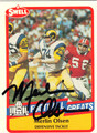 MERLIN OLSEN LOS ANGELES RAMS AUTOGRAPHED FOOTBALL CARD #42413D