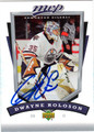 DWAYNE ROLOSON AUTOGRAPHED HOCKEY CARD #42112C