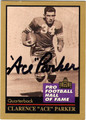 CLARENCE ACE PARKER AUTOGRAPHED FOOTBALL CARD #42513B