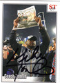 MIKE TOMLIN PITTSBURGH STEELERS AUTOGRAPHED FOOTBALL CARD #42713D