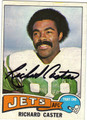 RICHARD CASTER NEW YORK JETS AUTOGRAPHED VINTAGE FOOTBALL CARD #42513i