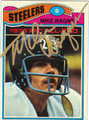 MIKE WAGNER SAUTOGRAPHED VINTAGE FOOTBALL CARD #42712F