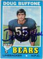 DOUG BUFFONE CHICAGO BEARS AUTOGRAPHED VINTAGE FOOTBALL CARD #42813D