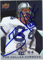 TOM RAFFERTY AUTOGRAPHED FOOTBALL CARD #42912B