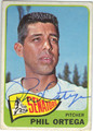 PHIL ORTEGA WASHINGOTN SENATORS AUTOGRAPHED VINTAGE BASEBALL CARD #42913K