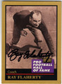 RAY FLAHERTY WASHINGTON REDSKINS AUTOGRAPHED FOOTBALL CARD #42913C