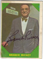 BRANCH RICKEY AUTOGRAPHED VINTAGE BASEBALL CARD #42913L