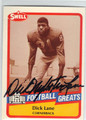 DICK LANE AUTOGRAPHED FOOTBALL CARD #43013C
