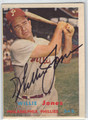 WILLIE JONES PHILADELPHIA PHILLIES AUTOGRAPHED VINTAGE BASEBALL CARD #50113G