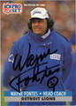 WAYNE FONTES AUTOGRAPHED FOOTBALL CARD #50212J