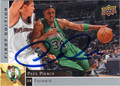 PAUL PIERCE BOSTON CELTICS AUTOGRAPHED BASKETBALL CARD #50113J