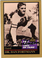 DAN FORTMANN CHICAGO BEARS AUTOGRAPHED FOOTBALL CARD #50213E