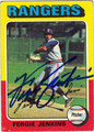 FERGIE JENKINS TEXAS RANGERS PITCHER AUTOGRAPHED VINTAGE BASEBALL CARD #50213G