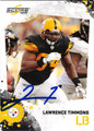 LAWRENCE TIMMONS AUTOGRAPHED FOOTBALL CARD #50311L