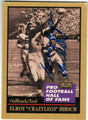 ELROY CRAZYLEGS HIRSCH LOS ANGELES RAMS AUTOGRAPHED FOOTBALL CARD #50213D