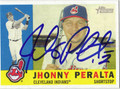 JHONNY PERALTA AUTOGRAPHED BASEBALL CARD #50311Q