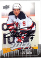 ZACH PARISE AUTOGRAPHED HOCKEY CARD #50312J