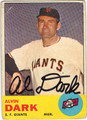 AL DARK SAN FRANCISCO GIANTS AUTOGRAPHED VINTAGE BASEBALL CARD #50413i