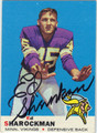 ED SHAROCKMAN AUTOGRAPHED VINTAGE FOOTBALL CARD #50512D