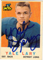 YALE LARY DETROIT LIONS AUTOGRAPHED VINTAGE FOOTBALL CARD #50513B