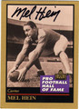 MEL HEIN NEW YORK GIANTS AUTOGRAPHED FOOTBALL CARD #50513D